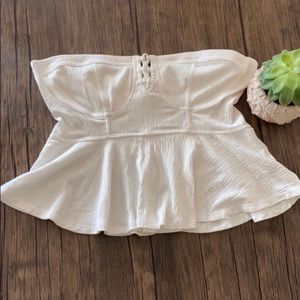 Free People Strapless Corset Top NWOT
